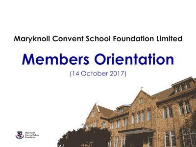 Members Orientation (14 October 2017)