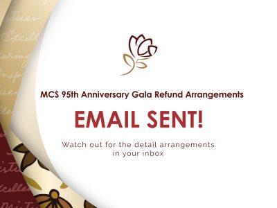95th Anniversary Gala Cancellation Refund Arrangements